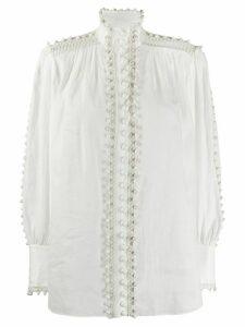 Zimmermann Super Eight bauble-trimmed blouse - White