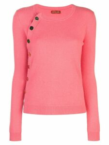 Altuzarra cashmere buttoned jumper - CORAL