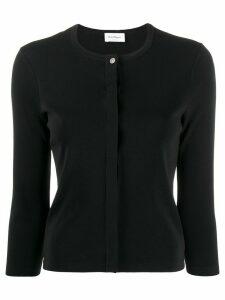 Salvatore Ferragamo concealed fastening cardigan - Black