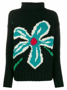 YMC floral intarsia jumper - Black