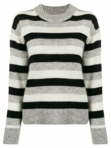Calvin Klein Jeans striped long-sleeve jumper - Grey
