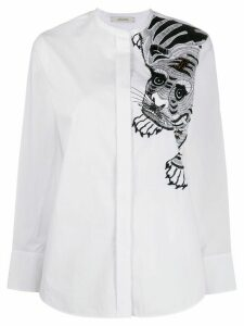 Dorothee Schumacher embellished tiger shirt - White