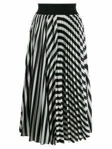 Dorothee Schumacher striped monochrome skirt - Black