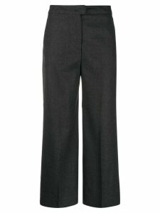 Pt01 wide-leg cropped tailored trousers - Grey