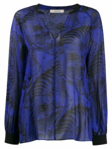 Dorothee Schumacher tiger print blouse - Blue