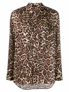 Equipment leopard print long sleeve shirt - Black