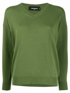 Dsquared2 V-neck jumper - Green
