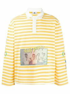 Daily Paper Folo striped polo shirt - Yellow