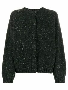 YMC round neck cardigan - Black