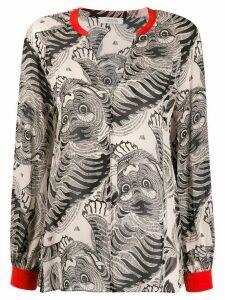 Dorothee Schumacher silk tiger print blouse - NEUTRALS