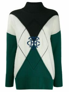 Tommy Hilfiger colour block jumper - Green