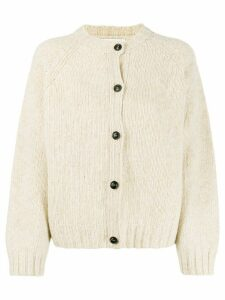 YMC round neck cardigan - NEUTRALS