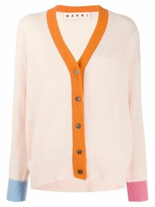 Marni colour-block cashmere cardigan - PINK