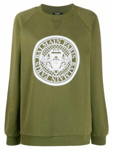 Balmain Medallion logo sweatshirt - Green