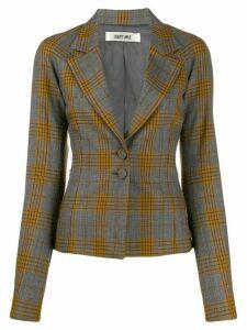 Charlotte Knowles plaid print blazer - Grey