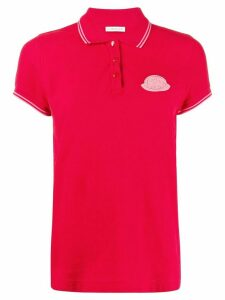 Moncler logo short-sleeved polo shirt - Red