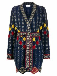 Peter Pilotto metallic V-neck cardigan - Black