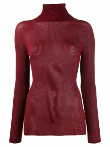 Victoria Beckham ribbed roll neck jumper - Red