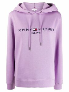 Tommy Hilfiger logo hoodie - PURPLE
