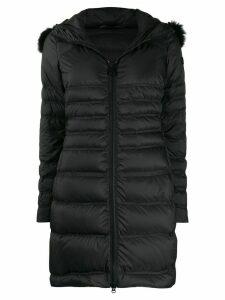 Peuterey quilted parka coat - Black