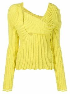 Bottega Veneta bouclé textured jumper - Yellow