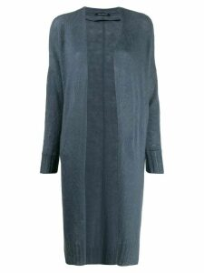 Luisa Cerano long-sleeve draped caridgan - Blue