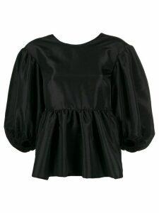 Cecilie Bahnsen ruched peplum blouse - Black