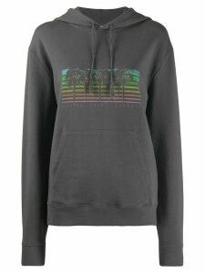 Saint Laurent Malibu palm tree print hoodie - Grey
