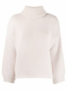 Fine Edge turtleneck chunky jumper - PINK