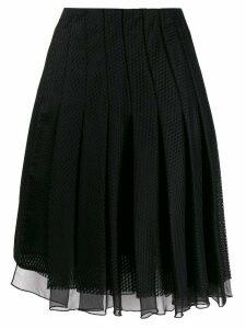 Dorothee Schumacher pleated mesh skirt - Black