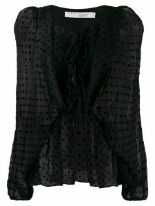 IRO polka-dot print blouse - Black