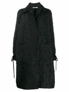 Cecilie Bahnsen silk patterned single-breasted coat - Black