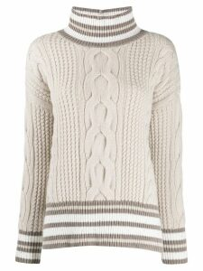 Lorena Antoniazzi cable knit jumper - Brown