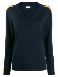 Akris Punto side stripe relaxed-fit jumper - Blue
