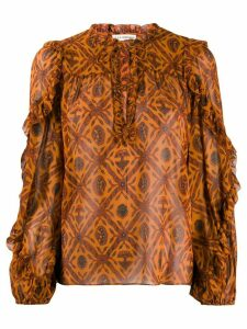 Ulla Johnson embroidered long-sleeve blouse - Orange
