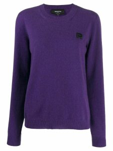 Rochas logo-embroidered sweater - PURPLE