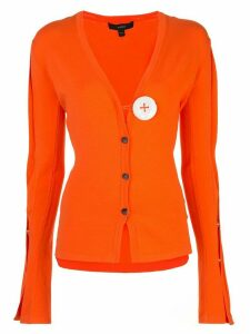 Ellery contrast button cardigan - ORANGE
