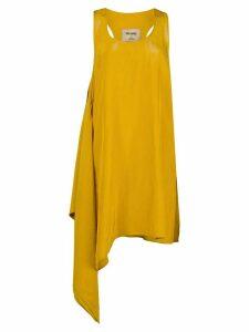 Uma Wang asymmetric oversized tank top - Yellow