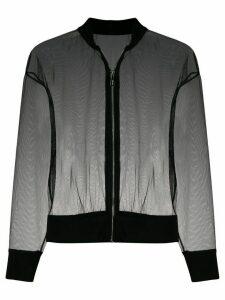 Alchemy sheer bomber jacket - Black
