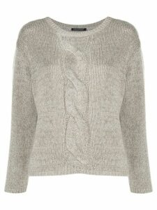 Luisa Cerano cable knit detail jumper - NEUTRALS