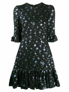 Mary Katrantzou star print dress - Black