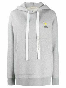 Maison Kitsuné logo drawstring hoodie - Grey