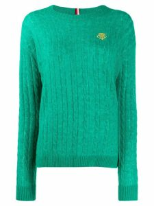 Tommy Hilfiger cable knit jumper - Green