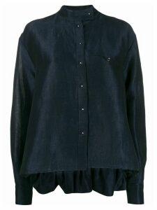 Esteban Cortazar contrast back micro-buttoned shirt - Blue