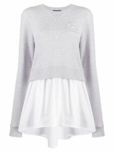 Karl Lagerfeld layered shirt-hem sweatshirt - Grey