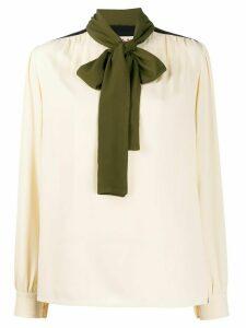 Marni contrast details blouse - NEUTRALS