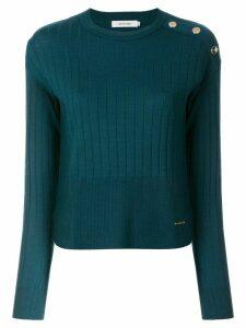Loveless button shoulder jumper - Blue