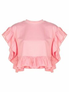 Opening Ceremony short-sleeve ruffle blouse - PINK