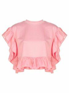 Opening Ceremony short-sleeve ruffle blouse - PINK