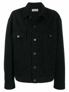 Balenciaga strass logo denim jacket - Black